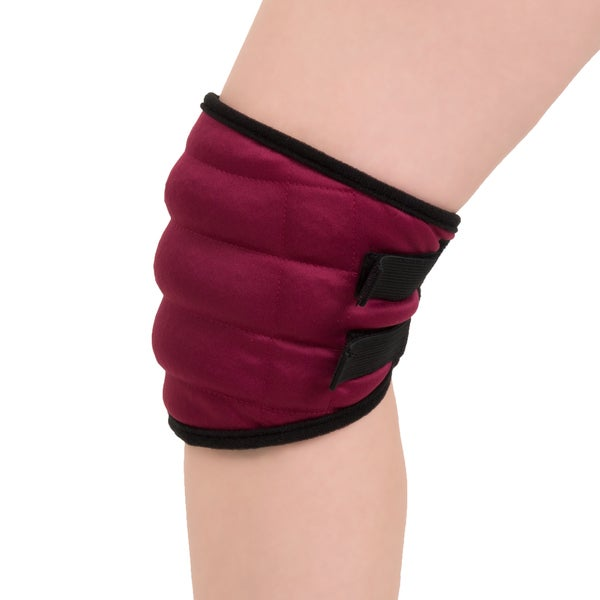 Hot or Cold Wrap- Microwaveable or Freezable Knee Wrap-Moist Heat or Cooling Therapy with Natural Buckwheat Filling by Bluestone. Opens flyout.