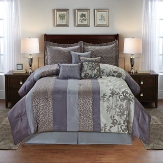 Leaves Jacquard 7-piece Comforter Set