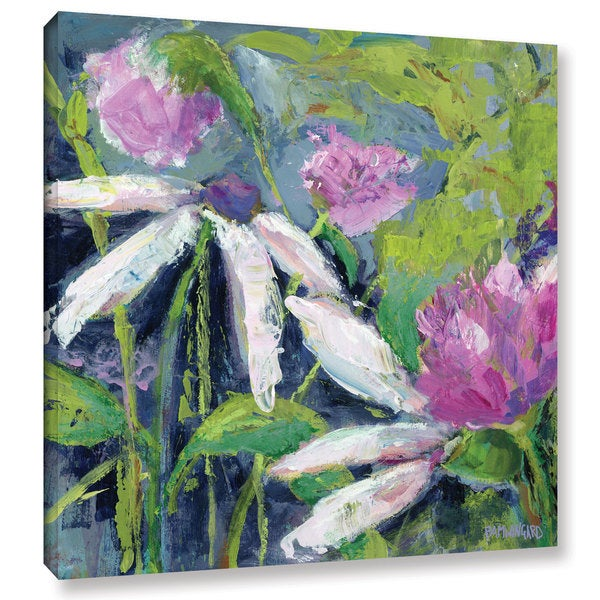 Pamela J. Wingard's 'Flower Fields Lavender' Gallery Wrapped Canvas