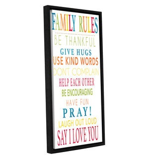 Alli Rogosich's 'Family Rules' Gallery Wrapped Floater-framed Canvas