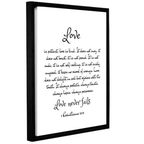 Anna Quach's 'Love Corinthians' Gallery Wrapped Floater-framed Canvas