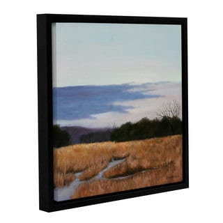 Julie Peterson's 'Winters Morning' Gallery Wrapped Floater-framed Canvas