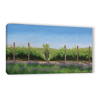 Julie Peterson's 'Lavender in the Vineyard' Gallery Wrapped Canvas