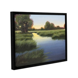 Julie Peterson's 'Morning Glow' Gallery Wrapped Floater-framed Canvas