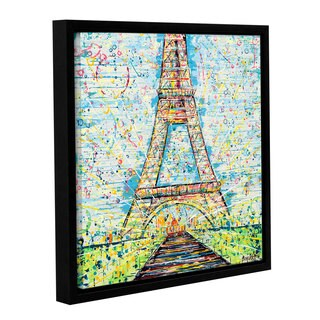 Ben Bonart's 'Bon Jour' Gallery Wrapped Floater-framed Canvas