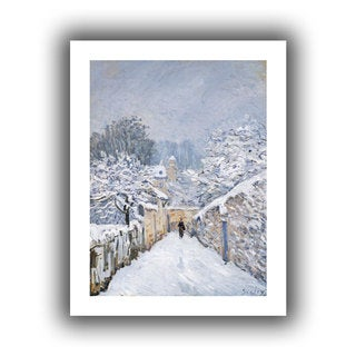 Alfred Sisley's 'Snow at Louveciennes, Canvas Poster