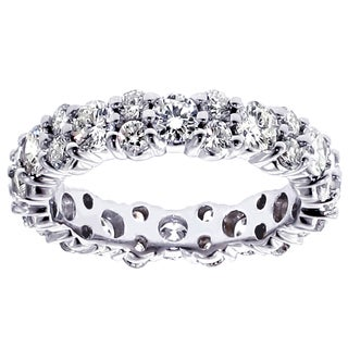 Platinum 2 1/3 - 2.7ct TDW Diamond Eternity Ring (G-H, SI1-SI2)