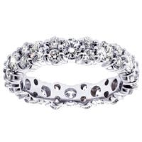 Platinum 2 1/3 - 2.7ct TDW Diamond Eternity Ring