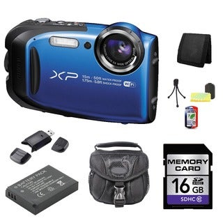 Fujifilm FinePix XP80 Camera Bundle (Blue)