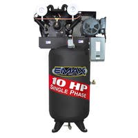 EMAX Industrial 10 HP 1-phase 80-gallon Electric Air Compressor