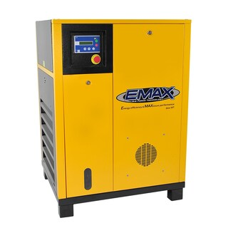 EMAX Premium 10 HP 3-Phase Stationary Electric Rotary Screw Air Compressor
