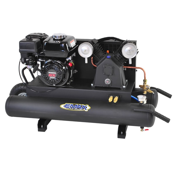 Honda Holiday Sales Event >> Shop EMAX 10-gallon 6.5 HP 2-Cycle Portable Gas Wheelbarrow Air Compressor with Honda Gas ...