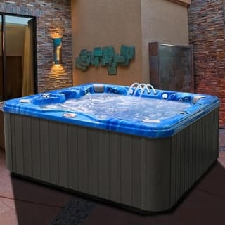 6-Person 56-Jet Bench Spa with Bluetooth Stereo System with Subwoofer and Backlit LED Waterfall|https://ak1.ostkcdn.com/images/products/11692263/P18617418.jpg?impolicy=medium