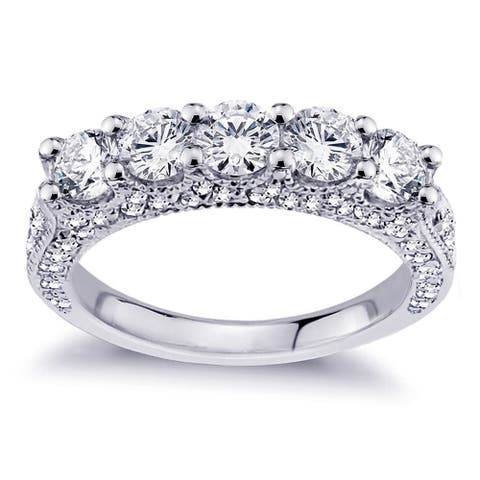 Platinum 2 1/2ct TDW Diamond Wedding Band