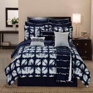 Carbon Loft Faraday Tie-dye Plaid Printed Reversible 12-piece Comforter