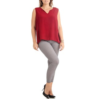 Houndstooth Plus Size Ankle Leggings (3 options available)