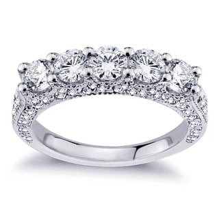 18k White Gold 2 1/2ct TDW Diamond Wedding Band