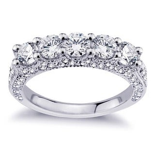 18k White Gold 2 1/2ct TDW Diamond Wedding Band