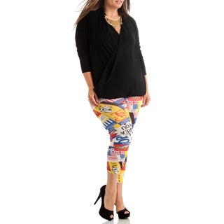 Retro Comics Plus Size Leggings