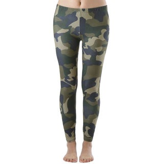Plus Size Army Camo Print Leggings