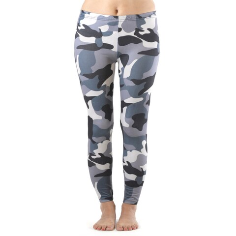Plus Size Winter Camo Print Leggings