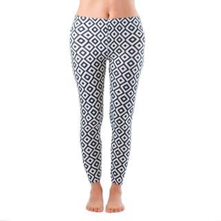 Plus Size Ankle Length Black/ White Hypnotic Diamond Leggings