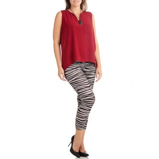 Ankle Length Plus Size Zebra Legging