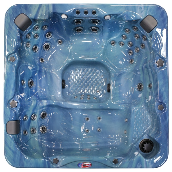 7-Person 56-Jet Lounger Spa with Bluetooth Stereo System with Subwoofer and LED Waterfall