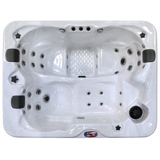 3-Person 34-Jet Longer Spa with Bluetooth Stereo System with Subwoofer and Backlit LED Waterfall