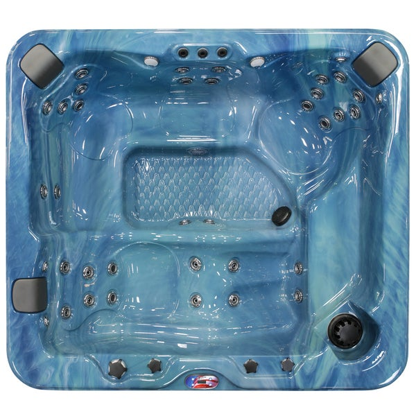 5-Person 37-Jet Lounger Spa with Bluetooth Stereo System with Subwoofer and Backlit LED Waterfall