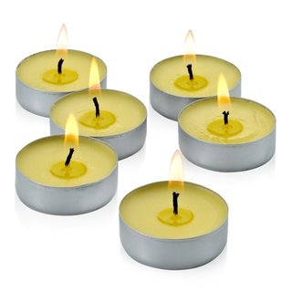 Mosquito Repellent Citronella Yellow Tealight Candles with Set of 50