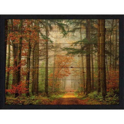 Land Of Trees Giclee Wood Wall Decor