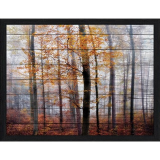 Misty Forest Giclee Wood Wall Decor
