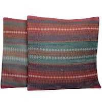 Handmade Herat Oriental Indo Tribal Kilim Pillows (Set of 2)