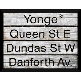 Toronto Street Names' Giclee Wood Wall Decor