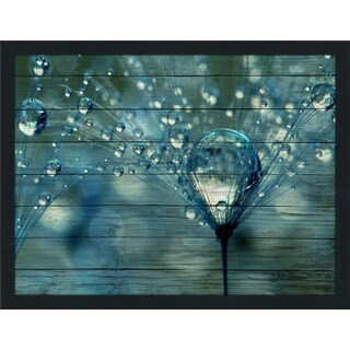 Sharon Johnstone 'Blue Sparkles' Giclee Wood Wall Decor