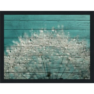 Sharon Johnstone 'Cyan Sparkles' Giclee Wood Wall Decor