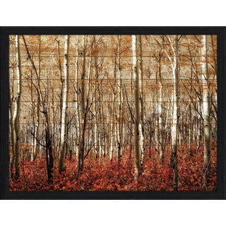 Birch Trees Giclee Wood Wall Decor