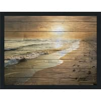 Footprints Giclee Wood Wall Decor