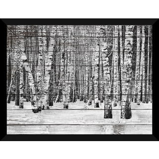Birch Trees In Winter' Giclee Wood Wall Decor