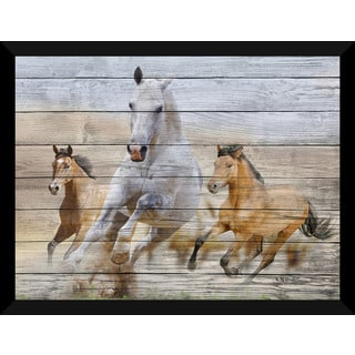 Stallions' Giclee Wood Wall Decor