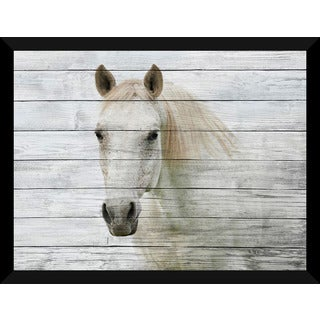White Beauty 3' Giclee Wood Wall Decor