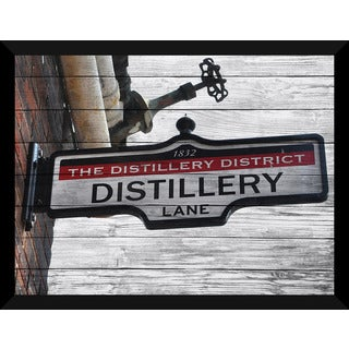 The Distillery District, Toronto Giclee Wood Wall Decor