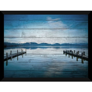 Versilia Massaciuccoli Lake' Giclee Wood Wall Decor