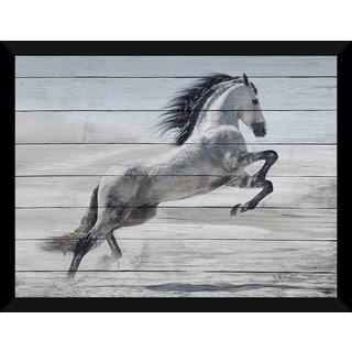 The Winter Stallion' Giclee Wood Wall Decor