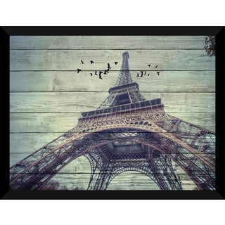 Eiffel Tower 3' Giclee Wood Wall Decor