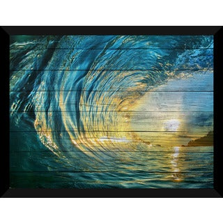 Pipeline 3' Giclee Wood Wall Decor