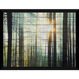 Sunset In The Woods' Giclee Wood Wall Decor