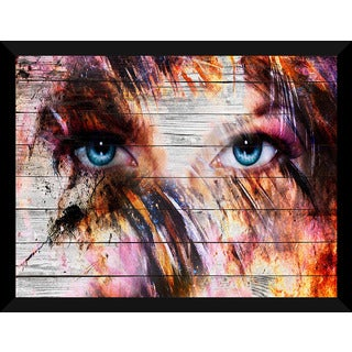 Eyez' Giclee Wood Wall Decor
