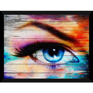 Eye' Giclee Wood Wall Decor